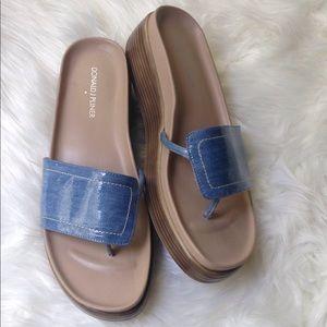 Donald J Pliner Blue Sandals Size 9.5M